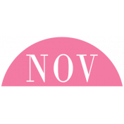 Toolbox Calendar- Date Sticker Kit- Months- Dark Pink November