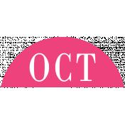 Toolbox Calendar- Date Sticker Kit- Months- Dark Pink October
