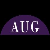 Toolbox Calendar- Date Sticker Kit- Months- Dark Purple August