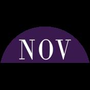 Toolbox Calendar- Date Sticker Kit- Months- Dark Purple November