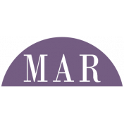 Toolbox Calendar- Date Sticker Kit- Months- Dark Purple March