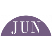 Toolbox Calendar- Date Sticker Kit- Months- Dark Purple June