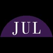 Toolbox Calendar- Date Sticker Kit- Months- Dark Purple July