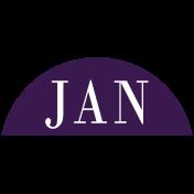 Toolbox Calendar- Date Sticker Kit- Months- Dark Purple January