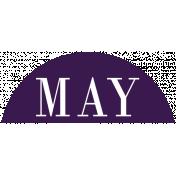 Toolbox Calendar- Date Sticker Kit- Months- Dark Purple May
