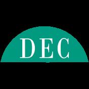 Toolbox Calendar- Date Sticker Kit- Months- Dark Teal December