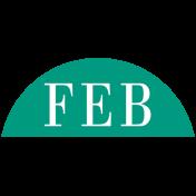 Toolbox Calendar- Date Sticker Kit- Months- Dark Teal February