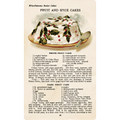 Memories & Traditions- Fruit and Spice Cakes Recipe Card