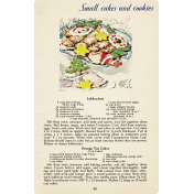 Memories & Traditions- Small Cakes and Cookies Recipe Card