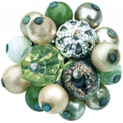 Memories & Traditions- Green Bead Cluster