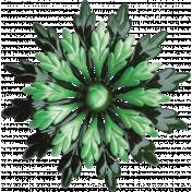 Memories & Traditions- Green Flower Brooch
