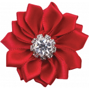 Memories & Traditions- Red Diamond Ribbon Flower