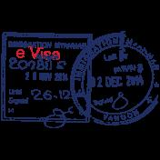 Passport Stamp Template 019