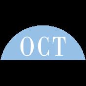 Toolbox Calendar- Date Sticker Kit- Months- Light Blue October
