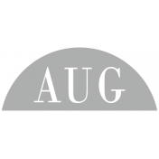 Toolbox Calendar- Date Sticker Kit- Months- Light Gray August