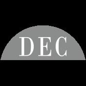 Toolbox Calendar- Date Sticker Kit- Months- Light Gray December