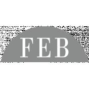 Toolbox Calendar- Date Sticker Kit- Months- Light Gray February