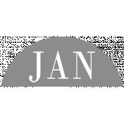 Toolbox Calendar- Date Sticker Kit- Months- Light Gray January