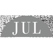 Toolbox Calendar- Date Sticker Kit- Months- Light Gray July