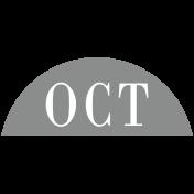 Toolbox Calendar- Date Sticker Kit- Months- Light Gray October