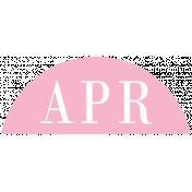 Toolbox Calendar- Date Sticker Kit- Months- Light Pink April