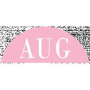 Toolbox Calendar- Date Sticker Kit- Months- Light Pink August
