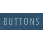 Winter Day- Buttons Word Art