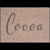 Winter Day- Cocoa Word Art