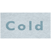Winter Day- Cold Word Art