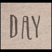 Winter Day- Day Word Art