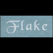 Winter Day- Flake Word Art