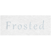 Winter Day- Frosted Word Art