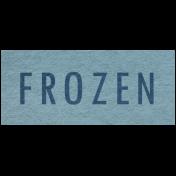 Winter Day- Frozen Word Art