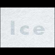 Winter Day- Ice Word Art