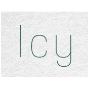 Winter Day- Icy Word Art