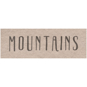 Winter Day- Mountains Word Art