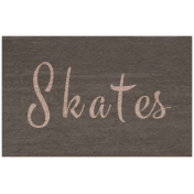 Winter Day- Skates Word Art