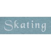 Winter Day- Skating Word Art