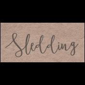 Winter Day- Sledding Word Art