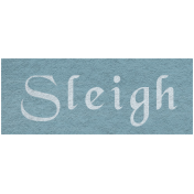 Winter Day- Sleigh Word Art