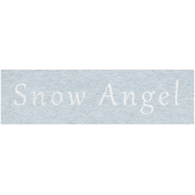 Winter Day- Snow Angel Word Art