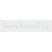 Winter Day- Snowboarding Word Art