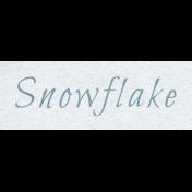 Winter Day- Snowflake Word Art