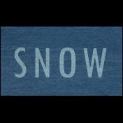 Winter Day- Snow Word Art
