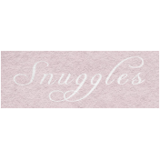 Winter Day- Snuggles Word Art