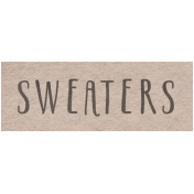 Winter Day- Sweaters Word Art
