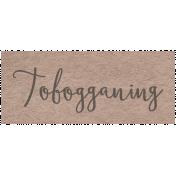 Winter Day- Tobogganing Word Art
