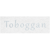 Winter Day- Toboggan Word Art