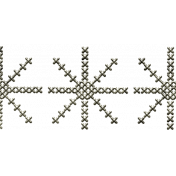 Winter Day- Snowflake Border Doodle