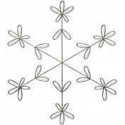 Winter Day- Snowflake Doodle 1
